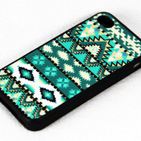 Aztec tribal pattern iPhone 4 and iPhone 4S CaseRubber by ACYC