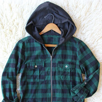 Cinder & Plaid Hooded Top