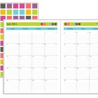 July 2015 - June 2016 Today's Teacher Squares Monthly Stapled Planner 8.5x11