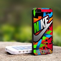 Nike Just Do It Full Color Triangle - For iPhone 5 Black Case Cover