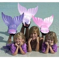 Mermaid Swimming Pool Swim Fin - Pink:Amazon:Sports & Outdoors