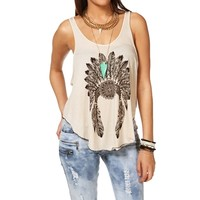 Promo-Taupe Chief Headdress Tank Top