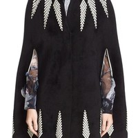 Alexander McQueen Feather Knit Cape | Nordstrom