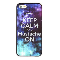 Keep Calm And Mustache ON Galaxy Case For iPhone5 from Charming Galaxy