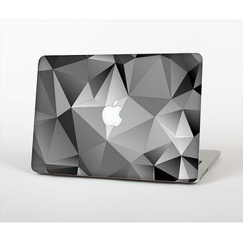 The Vector Black & White Abstract Connect Pattern Skin Set for the Apple MacBook Pro 15""