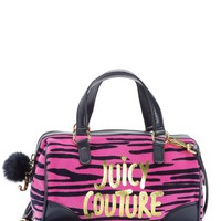 Girls Ziger Print Velour Steffy Satchel by Juicy Couture