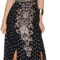 ANGIE PRINTED TWO SLIT MAXI DRESS