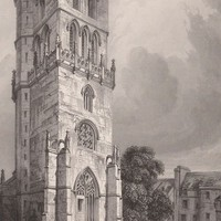 Antique Print The Church Tower Scotland Saint Regulus Tower of St. Rule's Church at St. Andrews (A16) by Grandpa's Market