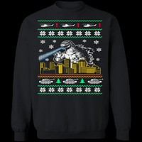 Godzilla Ugly Christmas Sweater
