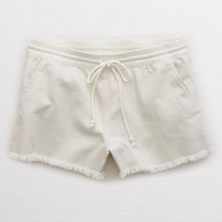 Aerie Denim Short, Cream