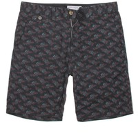 RVCA Fever Flower Shorts - Mens Shorts - Gray