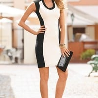 Boston Proper Colorblock ponte sheath