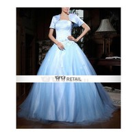 2011 Sexy style Ball Gown Strapless Sleeveless Floor-length Satin/ Organza Prom Dress (TQD001) - Quinceanera Dresses - Special Occasion Dresses