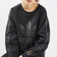 Mesh 3 Stripe Sweat by Adidas Originals | Topshop