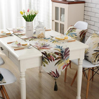 ROMORUS American Style Leaves Table Runners