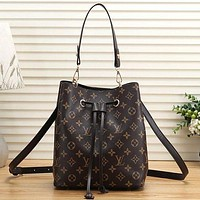 Louis Vuitton LV Women Fashion Leather Crossbody Shoulder Bag Handbag Bucket Bag Satchel-1