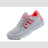 NIKE running breathable casual shock Damping running shoes Light gray