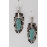 Silver Tribe Feather Earrings