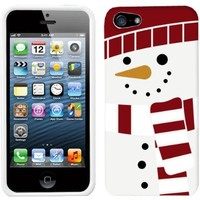Apple iPhone 5 Holiday Snowman On White Hard Case Phone Cover Case