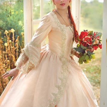 Pink and Champagne Fantasy Marie Antoinette Sparkle Gown Custom