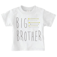 Big Brother Shirt | Natural Toddler Tshirt Tee Brother | Newborn Baby Toddler | 0028