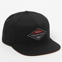 RVCA Difference Snapback Hat - Mens Backpack - Black - One