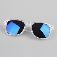 Vintage Clear Frame Sunglasses Women Square Eyewear Mirrored Lens Eyeglasses S PY6 SM6