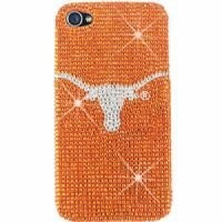 Texas Longhorns Bling Rhinestone NCAA iPhone 4 4S Case Snap On Cover Faceplate Protector