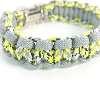Paracord Bracelet, Military Inspired, Trending Jewelry, Survival Gear for Camping, Hiking, Outdoors