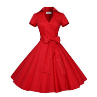 2016 Summer Audrey' Hepburn Style 1950s 60s Vintage Retro Sleeve Rockabilly Pinup 50s Swing Wedding Party Plus Size Dresses