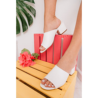 Clean And Simple Heels (White)