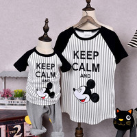 Family Matching Outfits Family Clothing Mother and Daughter/Son Matching Clothes Mom and Baby Clothes Casual Tops Clothing WY19
