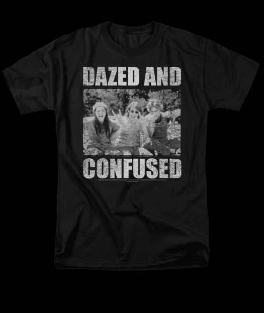 Image of Dazed and Confused Rock On Adult Tee Shirt
