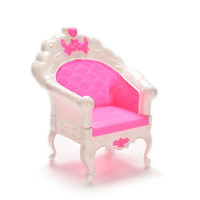 1X Graceful Vintage Chairs Barbies Kids Dollhouse Furniture Single Seat Sofa T22