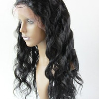 Body Wave Wig Human Hair Full Lace Wigs European Human Hair Wig 100% Virgin Hair Wig Remy Human Hair Wig  #1  Free Shipping