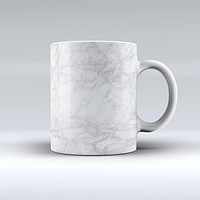 The White Scratched Marble ink-Fuzed Ceramic Coffee Mug