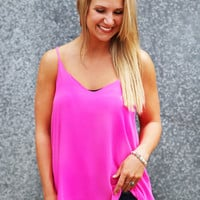 One & Only Tank {Fuchsia}