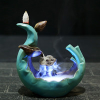 Creative LED Lotus Incense Burner