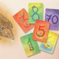 Grimm's Secondary Deck of Nature-Inspired 123 Number Cards - 64 Artistic Waldorf Watercolor Cards for Counting & Math