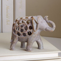 Elephant Sculpture Double Carved