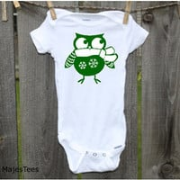 Snowflake Owl Onesuits®, Baby's 1st Christmas, Toddler, kids