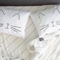Cat Couple pillowcase, Cat nap cat sleep Set of 2, Wedding gift, Anniversary Gift, Valentine Gift for couple Pillow case