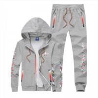 Adidas men and women tide brand casual fashion suits Gray