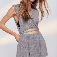 Out From Under Hey Love Cozy Fleece Romper   Urban Outfitters