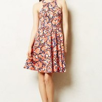 Rosewater Dress by Anthropologie Red Motif