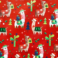 Christmas Gift Wrap Wrapping Paper, Fa La Llama (8 Rolls 5ft x 30in)