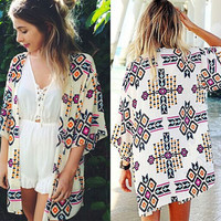 Chiffon Blouse Bikini Shirt Jacket [4970295108]
