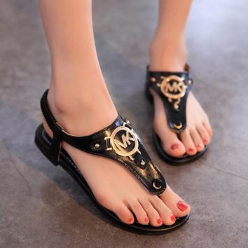Sandals Flat Shoes Slippers [211457114124]
