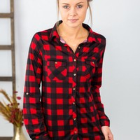 Emelia Plaid Top- 2 Options