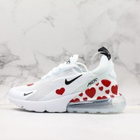 NIKE AIR MAX 270 Tide brand love printing atmospheric cushion sneakers